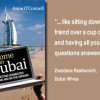 Anne O'Connell's Dubai book is featured in new 'Displaced Nation' series